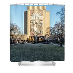 Notre Dame Touchdown Jesus  Shower Curtain