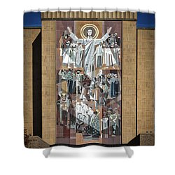 Notre Dame's Touchdown Jesus Shower Curtain by Mountain Dreams
