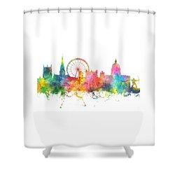 Nottingham  England Skyline Shower Curtain