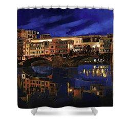 Notturno Fiorentino Shower Curtain by Guido Borelli