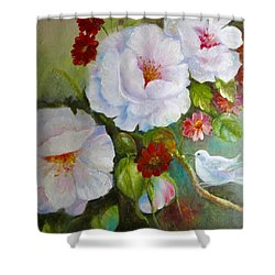 Shower Curtain featuring the painting Noubliable  by Patricia Schneider Mitchell
