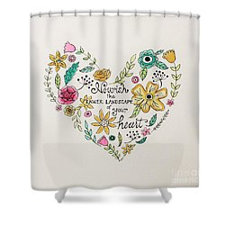 Nourish Shower Curtain by Elizabeth Robinette Tyndall