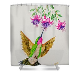 Shower Curtain featuring the painting Nourishment  by Katherine Young-Beck