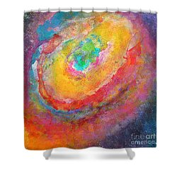 Fantasies In Space Series Painting. Aurora Concerto.  Shower Curtain