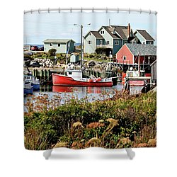 Nova Scotia Fishing Community Shower Curtain