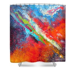 Fantasies In Space Series Painting. Nova Sonata Shower Curtain