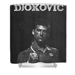 Novak Djokovic Shower Curtain by Semih Yurdabak