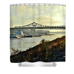 November Barge Shower Curtain