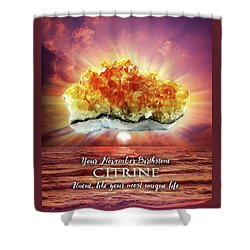 November Birthstone Citrine Shower Curtain