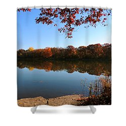 Shower Curtain featuring the photograph November Colors by Teresa Schomig