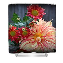 November  Flowers - Still Life Shower Curtain
