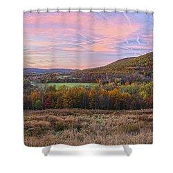 November Glowing Sky Shower Curtain