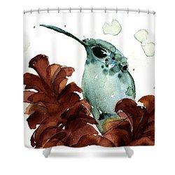 November Hummer Shower Curtain
