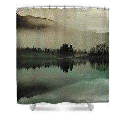 November Lake Shower Curtain by AugenWerk Susann Serfezi