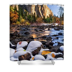 November Morning Shower Curtain by Anthony Michael Bonafede