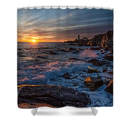 Shower Curtain featuring the photograph November Morning by Paul Noble