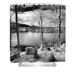 November On West Lake Shower Curtain by David Patterson