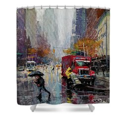 November Rain Shower Curtain by Peter Salwen