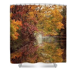 Shower Curtain featuring the photograph November Reflections by Jessica Jenney