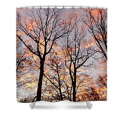November Sunrise Shower Curtain