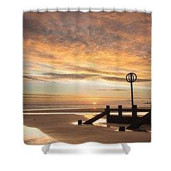November Sunrise Shower Curtain