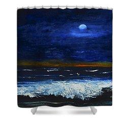November Sunset At The Beach Shower Curtain