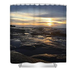 November Sunset On Lake Superior Shower Curtain
