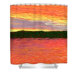 November Sunset Special Crop Shower Curtain