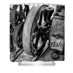 Novo Antique Gas Engine Shower Curtain