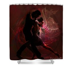 Shower Curtain featuring the digital art Now And Forever by Shanina Conway