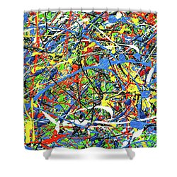NOW Shower Curtain by Elf Evans