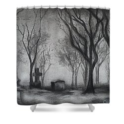 Now I Lay Me Down To Sleep Shower Curtain by Carla Carson
