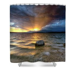 Now I See Fire, Inside The Mountain  Shower Curtain
