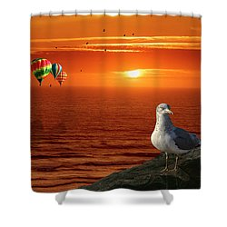 Now Those Are Funny Looking Birds Shower Curtain