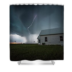 Shower Curtain featuring the photograph Nowhere To Run by Aaron J Groen