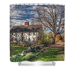 Noyes House In Autumn Shower Curtain