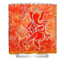 Nritya Ganesha- Dancing God Shower Curtain