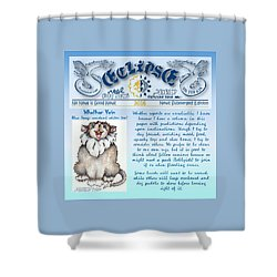 Real Fake News Blue Dawg Excerpt Shower Curtain