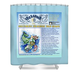 Real Fake News Excerpt Ship Shape Shower Curtain