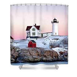 Nubble Glow Shower Curtain by Susan Cole Kelly