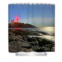 Nubble Light 457 Shower Curtain