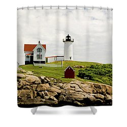 Nubble Light House  Shower Curtain