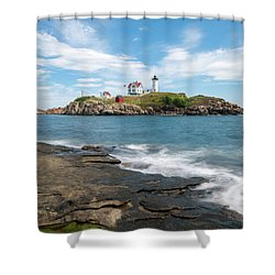 Nubble Light IIi Shower Curtain