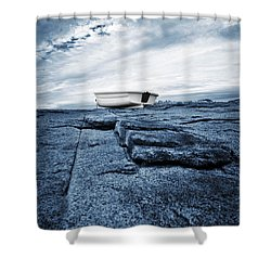 Nubble Light Rowboat Shower Curtain