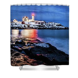 Nubble Lights Shower Curtain