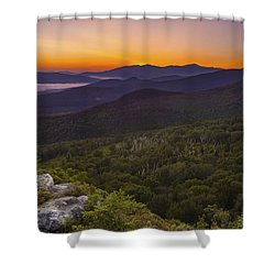 Nubble Sunrise Shower Curtain