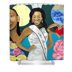 Nubian Princess Shower Curtain by Angelo Thomas