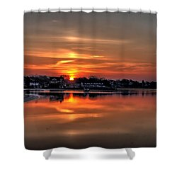 Nuclear Morning Shower Curtain