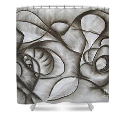Nucleus Of Time Shower Curtain