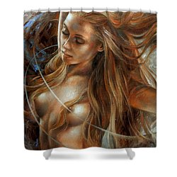 Nude Dinamik2 Shower Curtain by Arthur Braginsky